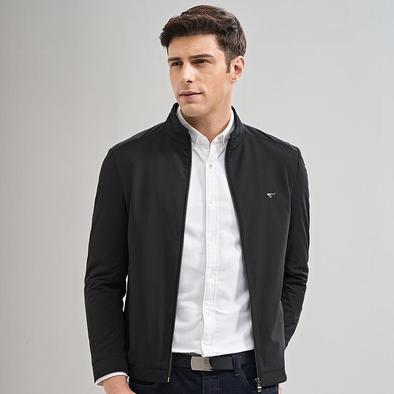 七匹狼男装夹克 男士外套2017秋季新款中青年立领茄克休闲外套