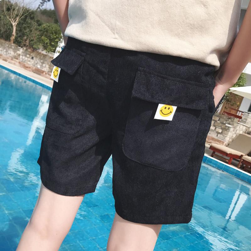 Новый летний мужской вельвет шорты песчаный пляж пять минут штаны студент твердый брюки лошадь брюки корейская волна брюки сын