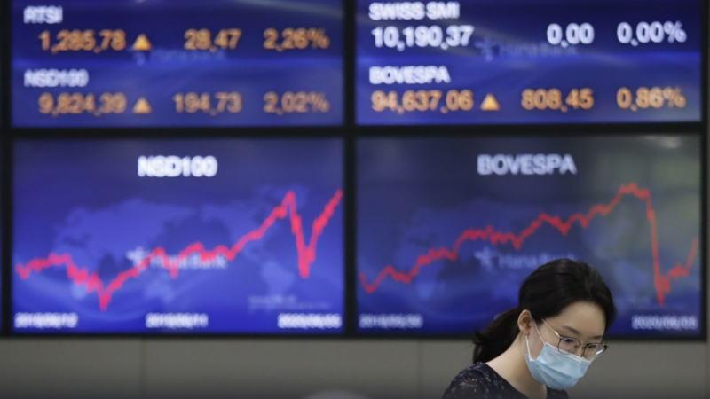 亚洲股指周一小幅攀升,但走势均呈现大幅冲高回落,表明多空分歧加剧,突破缺乏动力