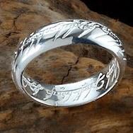 Кольцо Властелин Колец кольца расширились утолщенной стерлингового серебра 925 Властелин Колец Верховного Властелина колец(с цепью)пара мужчин и женщин на кольцо