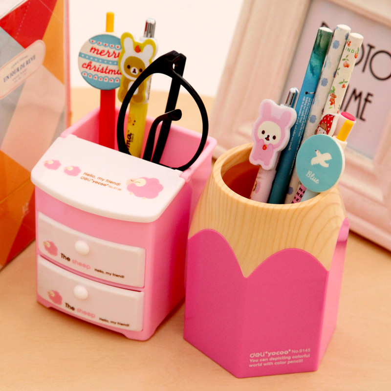Компетентный ученик пенал милый карандаш баррель творческий мода офис ребенок использование канцтовары корея ветерок свежий простой