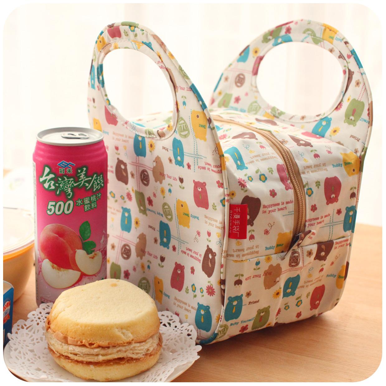 可爱女士小布包学生饭盒袋子大防水手拎包袋妈咪包手提袋帆布小号