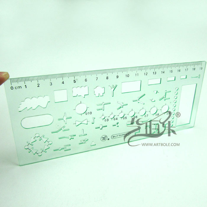 Butterfly Electrician Template 5301 Design Drawing Cartography Ruler