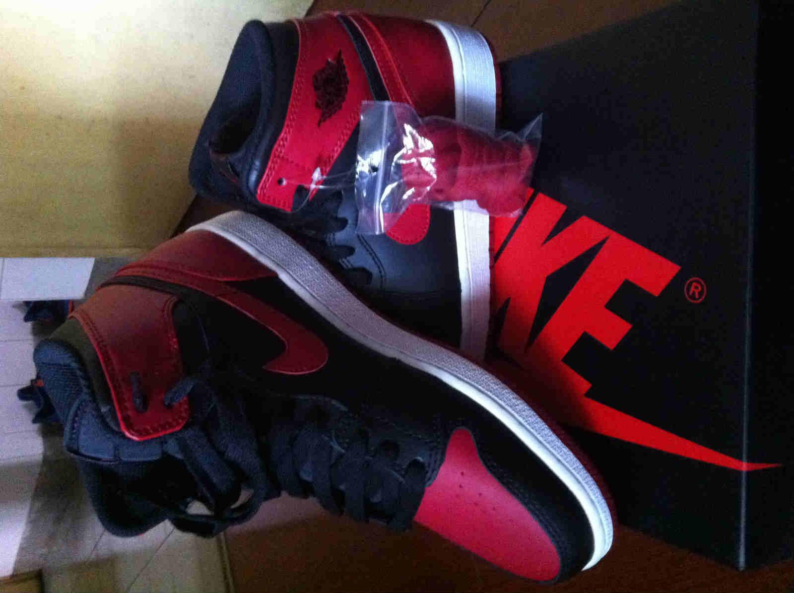 乔丹1代 OG 元年 AJ1黑红 樱木花道 乔1 篮球鞋 男女鞋555088023