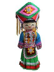 Сувениры Мяо Этнические деревянные куклы Хмонг