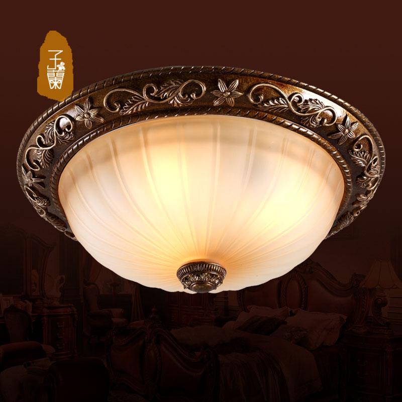 客厅餐厅创意个性简约欧式卧室现代复古铁艺美式吧台吸顶灯包邮