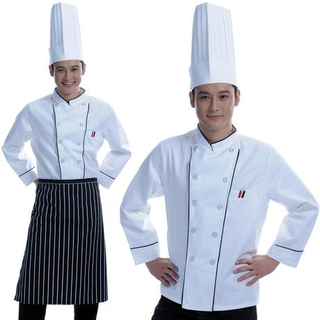 Restaurant Kitchen Work Clothes Chef Clothes Long Sleeved Autumn And Winter Kitchen Clothes Chef Clothes Workers Uniforms
