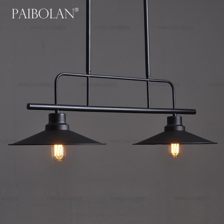 loft美式乡村工业复古铁艺灯罩咖啡厅吧台餐厅个性怀旧老吊灯