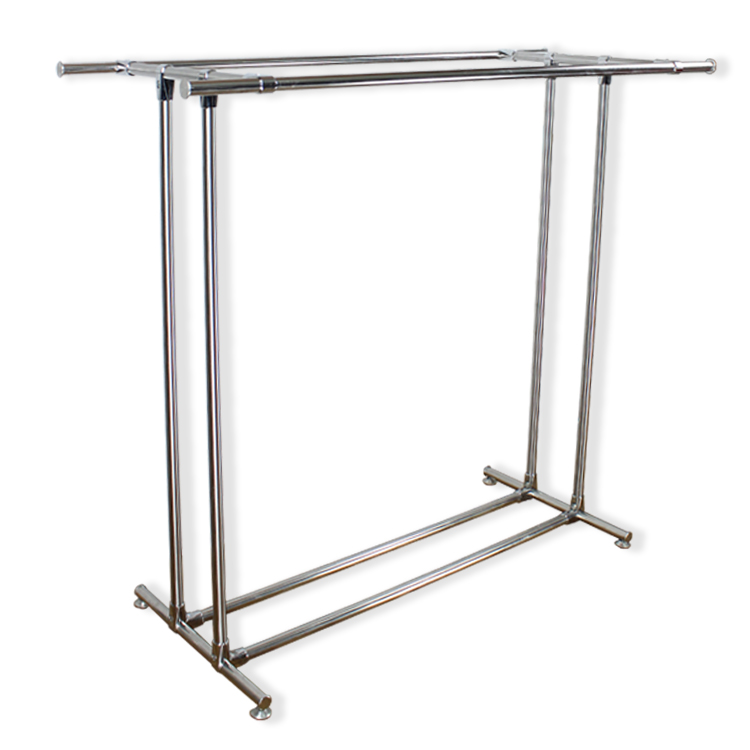 USD Stainless Steel Parallel Bars Clothing Pylons Floor - Stainless steel table tops for sale