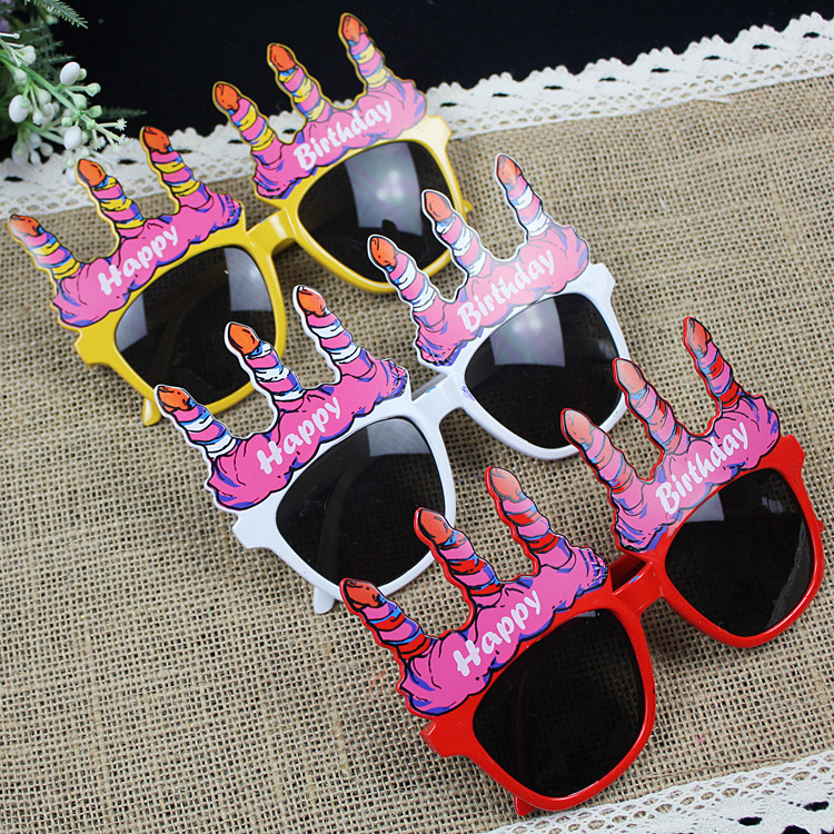 Lin Fang 30g birthday supplies party dress supplies birthday glasses happy birthday glasses