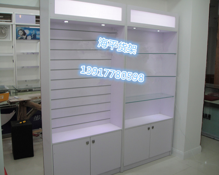 Wooden Shelves Mobile Phone Accessories Store Shelves Display Stand Mobile Phone Accessories Hanging Cabinets Computer Accessories Showcase