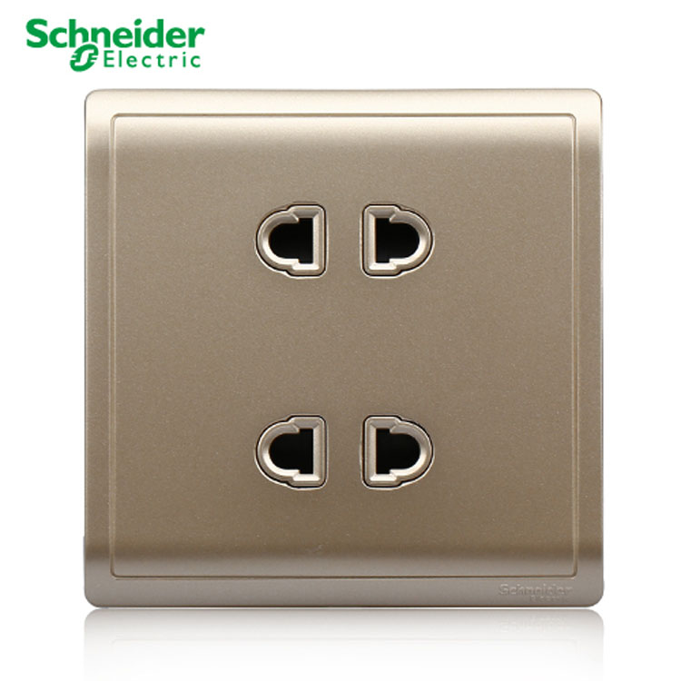 USD 9.06] Schneider switch socket wall panel fengshang indulge gold ...