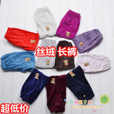Children's clothing wholesale factory direct autumn and winter models baby pants boys and girls children's dual-use velvet trousers