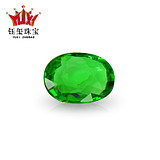 0.79 carat natural Brazil rare electro-optical emerald green chrome tourmaline bare stone ring/inlaid tourmaline ring pendant female
