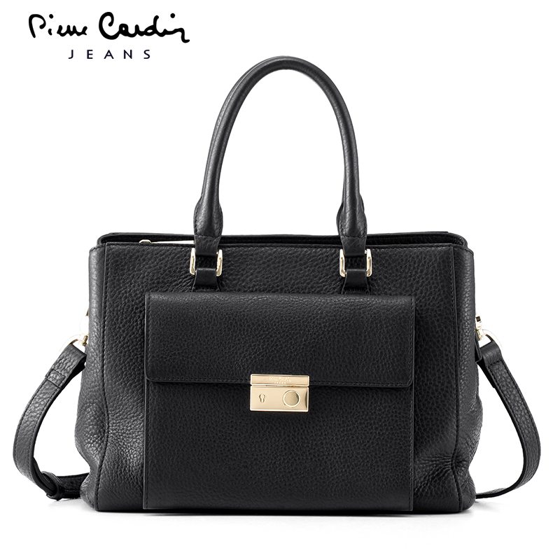 Pierre Cardin genuine leather handbag new fashion casual cross-section  square shoulder bag messenger bag fd51cc1d3a3c8