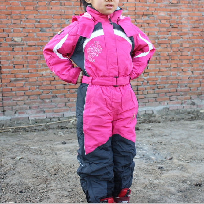 Exports of European foreign trade original single thick cotton children  windproof waterproof Siamese ski suit minus 7bb27ffc4