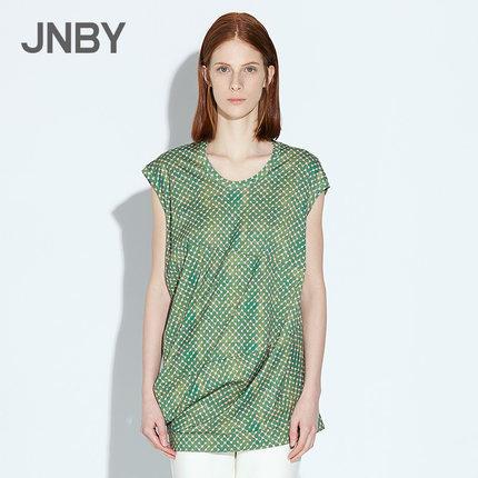 JNBY/江南布衣独特裁减波点印花短袖针织衫5F560005 158元