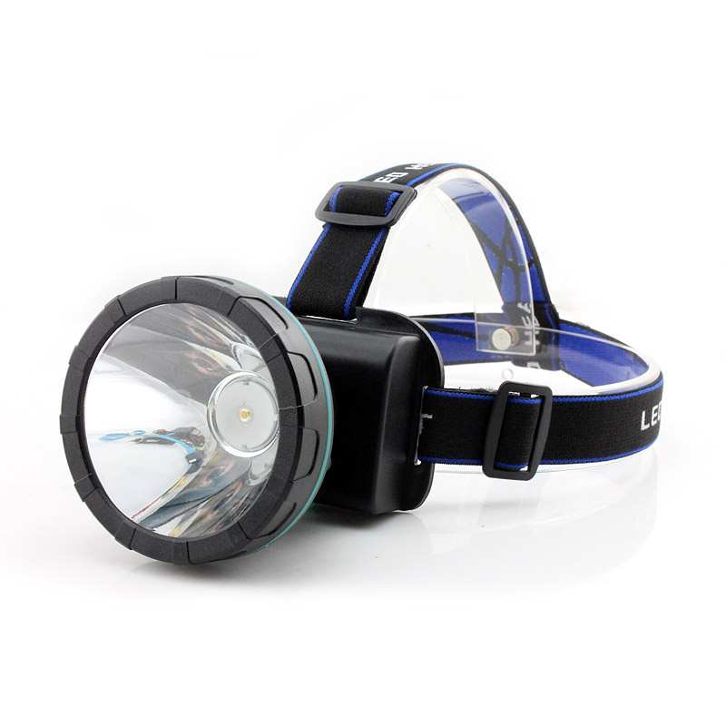Chính hãng LED mạnh đèn pha tầm xa sạc câu cá ánh sáng ngoài trời trắng vàng ánh sáng màu xanh mỏ đèn mặc đèn pin