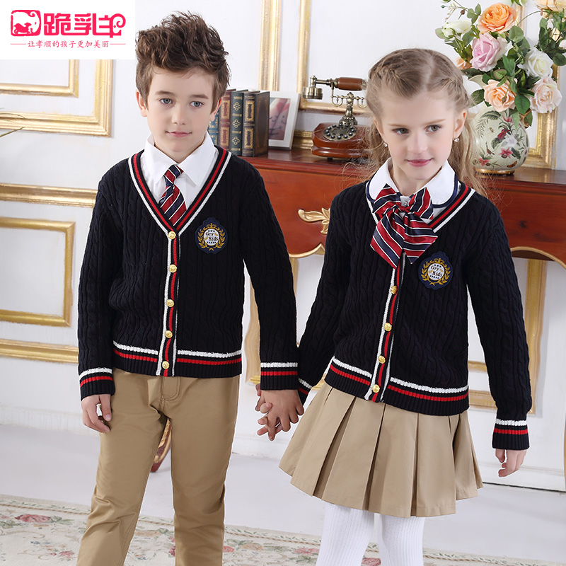 8bac17ae52 Spring Shenzhen uniforms pants sweater British style set kindergarten  clothes primary and secondary school uniforms class clothing spring and  autumn