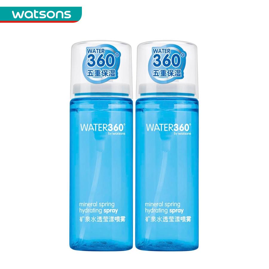 组合价 屈臣氏WATER360矿泉水透莹漾喷雾50毫升*2件