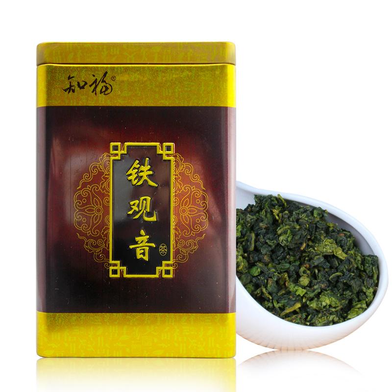 知福 安溪铁观音茶叶 盒装80g清香型铁观音乌龙茶