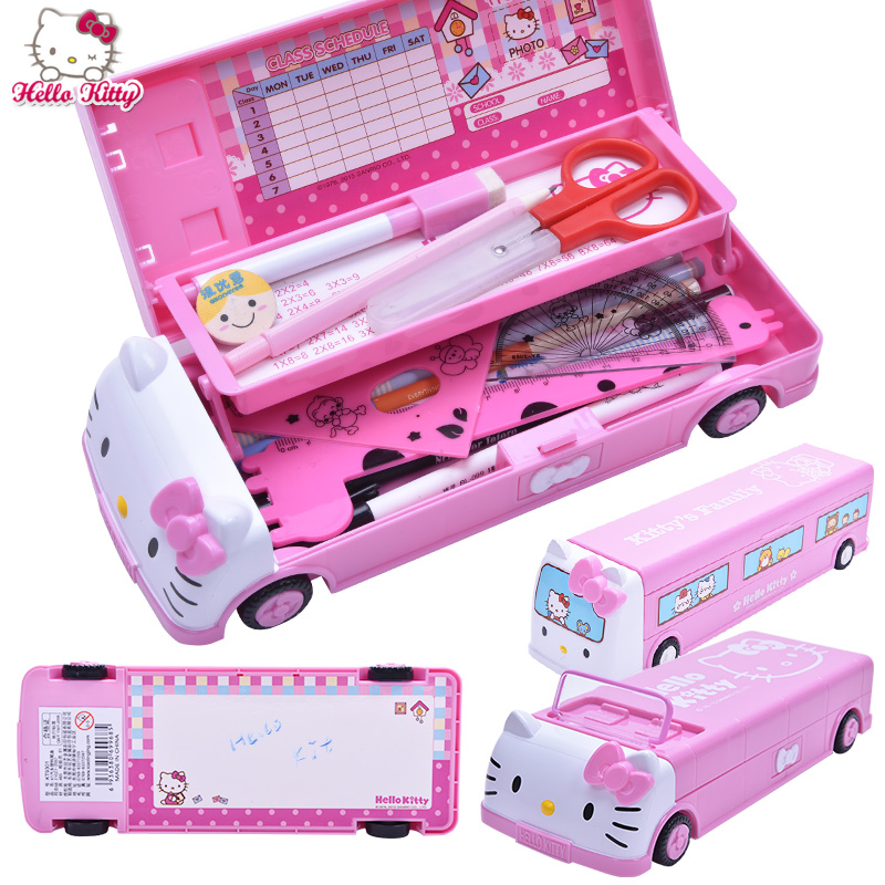 Car Multifunctional Stationery Box Primary School Students Creative Cartoon Double 5 6 7 8 9 10 Year Old Girl Pencil Case