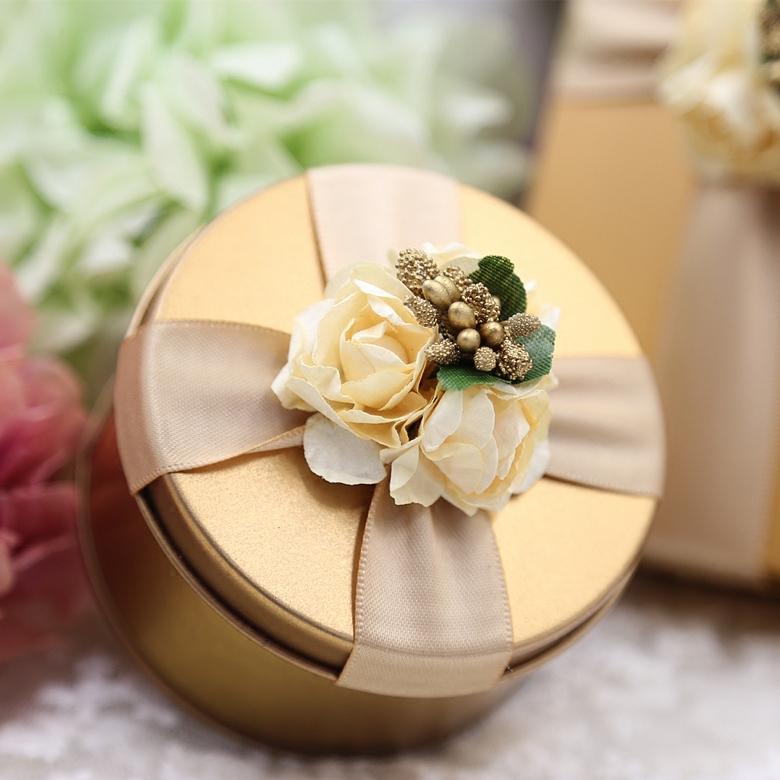 结婚礼盒糖盒欧式马口铁喜糖盒 创意个性新款浪漫婚礼回礼盒铁盒