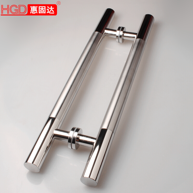 USD 24.13] Plus the thick glass door pull handle stainless steel ...