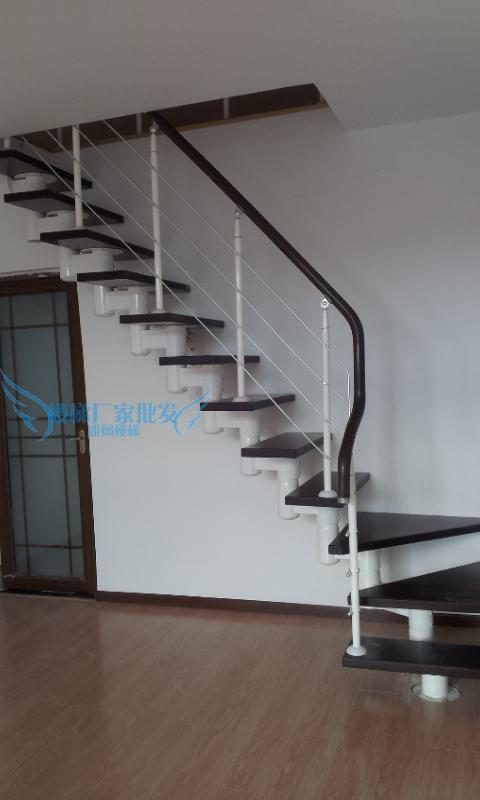 Stairs Attic Stairs Home Duplex Stairs Finished Custom Handrail Uprights  Pedal Fence