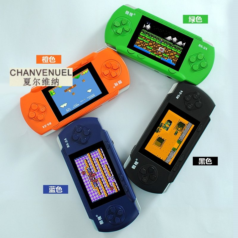 儿童游戏机酷孩RS-2A插卡游戏机掌机彩屏俄罗斯方块掌上游戏机
