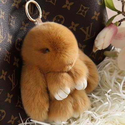 装死兔正版毛绒小兔子萌萌獭兔挂饰