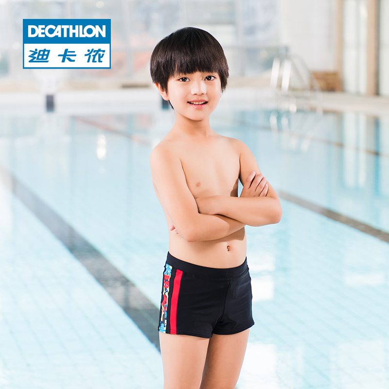 de9ea16a3d Decathlon swimming boy boy anti-chlorine comfortable boxer swimming trunks  beach pants lively and lovely NAB E