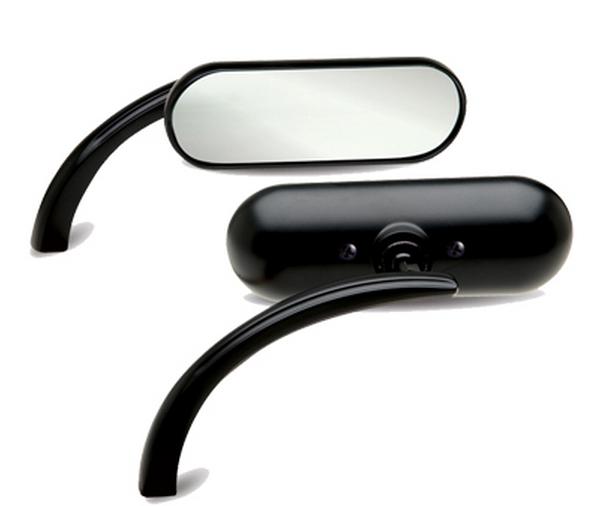Miễn phí vận chuyển xe máy sửa đổi phụ kiện nhôm cổ điển xe máy gương chiếu hậu retro mát đen phản chiếu gương - Xe máy lại gương