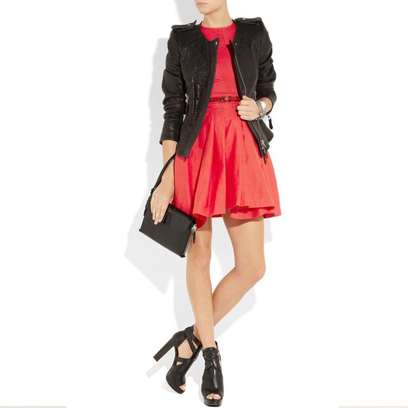 Женское платье Весна Лето новый товар покрасоваться плиссированные юбки жилет юбка красное платье