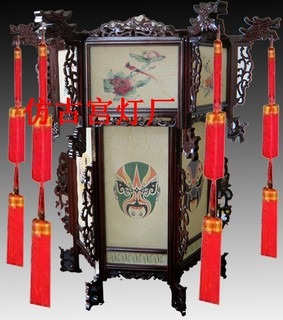 Chinese lanterns Chinese lanterns lamps classical antique hand-painted wooden lanterns lanterns living room / 140418-14