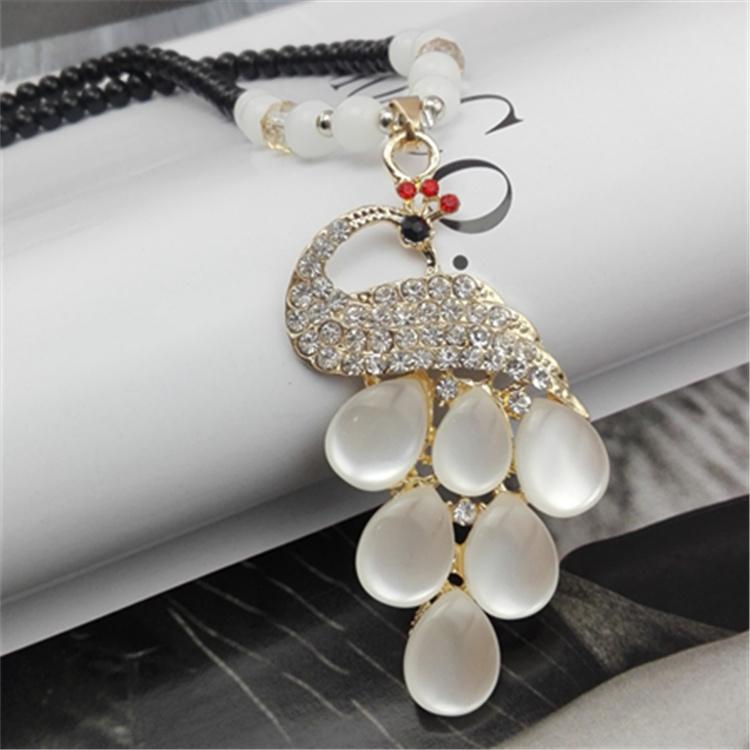 冬季新品圆环珍珠日韩国百搭珍珠配饰装饰饰品项链毛衣链长款女士