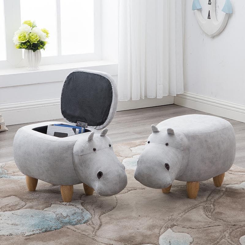 Твердая деревянная подставка для ног творческая скамья для обуви Hippo для дивана-стула дизайнерская мебель для хранения табуретка стул для обуви стул для приема стульев для ног