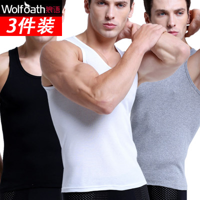 Men's cotton vest summer breathable Slim Youth Sports large size loose sleeveless bottoming field vest sweatshirt