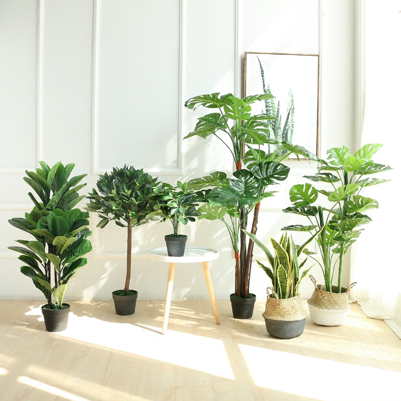 Nordic Creative Indoor Decorative Floral Green Potted Plants Big Bonsai  Olive Trees, Artificial Plants Living Room Floor To Ceiling Ornaments