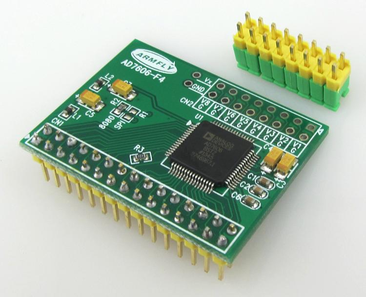 【安富莱】AD7606数据采集频率16位ADC8路v频率采样模块200KHz