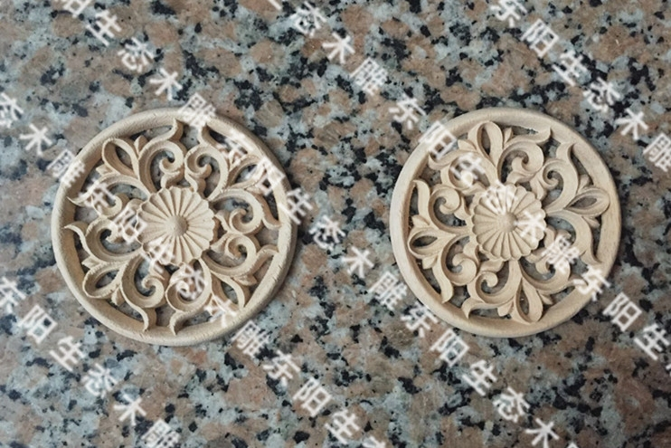 Usd 5.48] dongyang wood carving sheet european solid wood flower