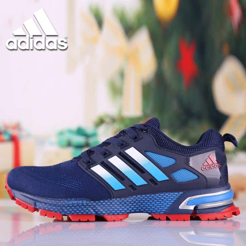 现货包邮男鞋马拉松跑步鞋三叶草夏季飞线网面女鞋透气休闲运动鞋