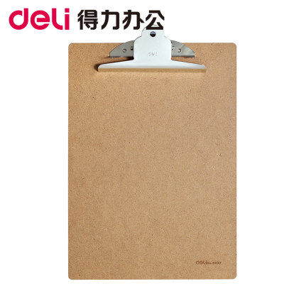 Deli written plate clip 9227 A4 write pad wooden folder clip hardware clamp sign splint stationery point menu clip student with art foot pad folder office pin