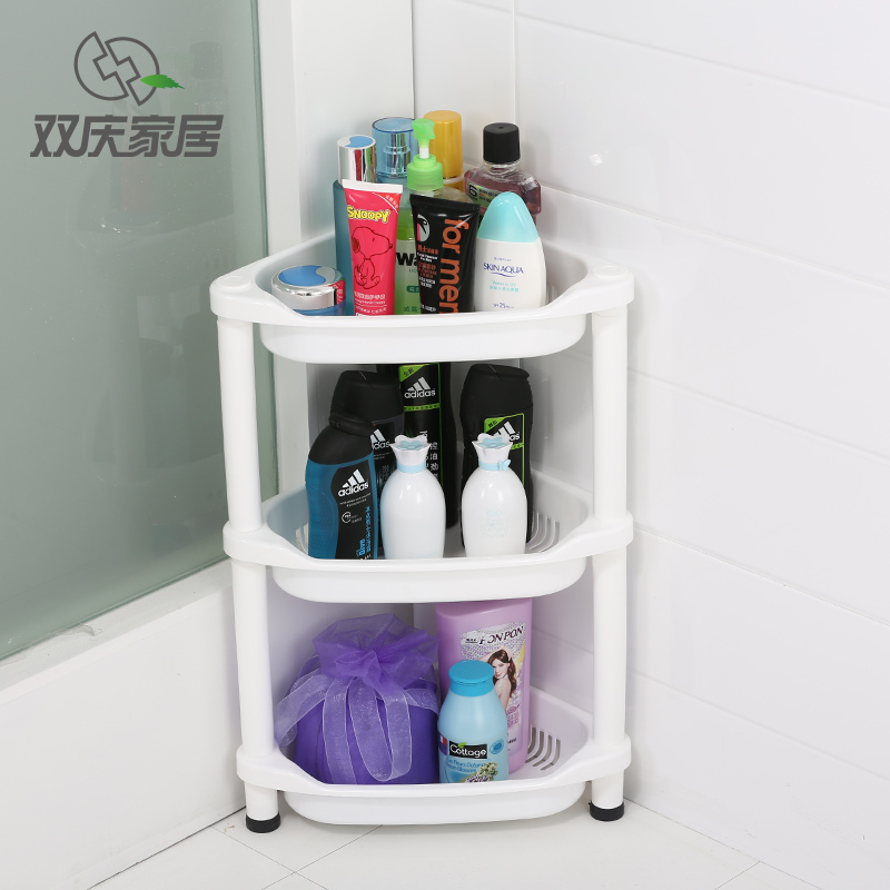 USD 35.00] Double celebration bathroom racks bathroom corner frame ...