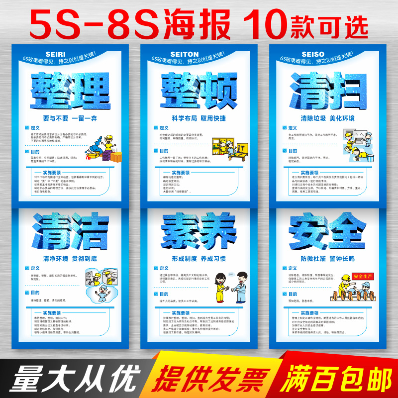 5S Flip Chart 6S Posters 7s Slogans 8S Posters On-site