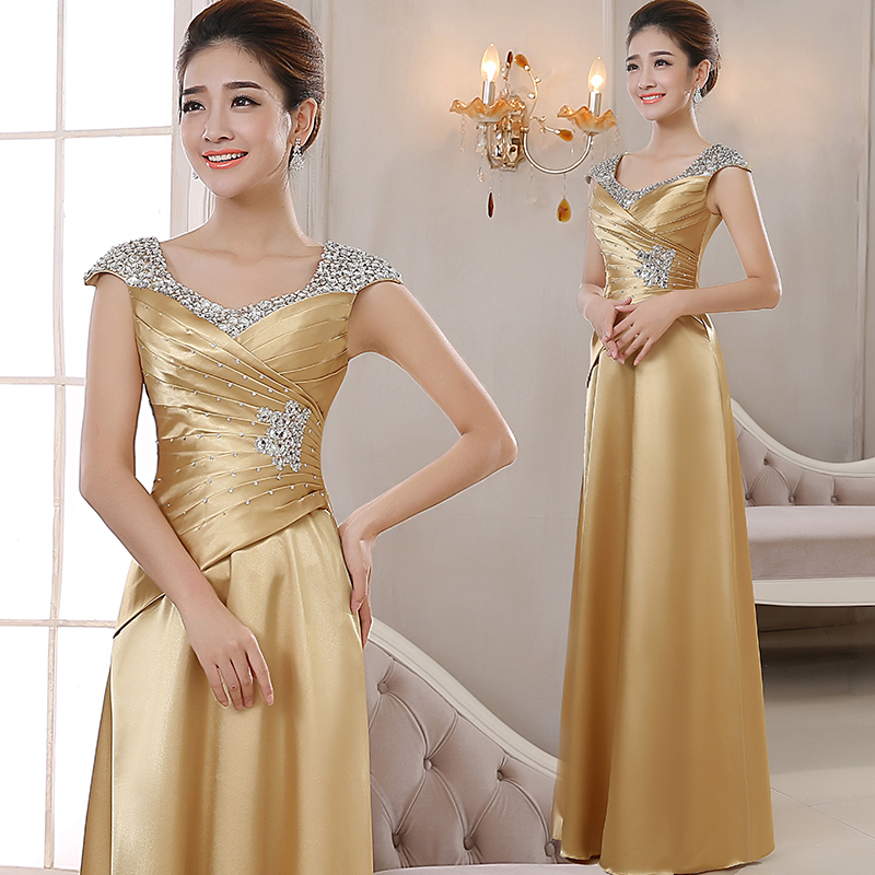 Evening Dress 2018 New Annual Dress Female Host Long Paragraph