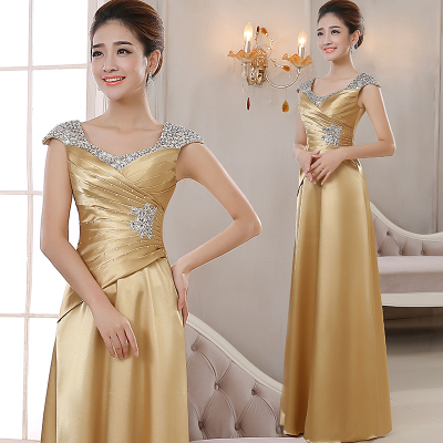 Evening dress fashion dress hostess long style dignified atmosphere banquet slim elegant Chorus dress