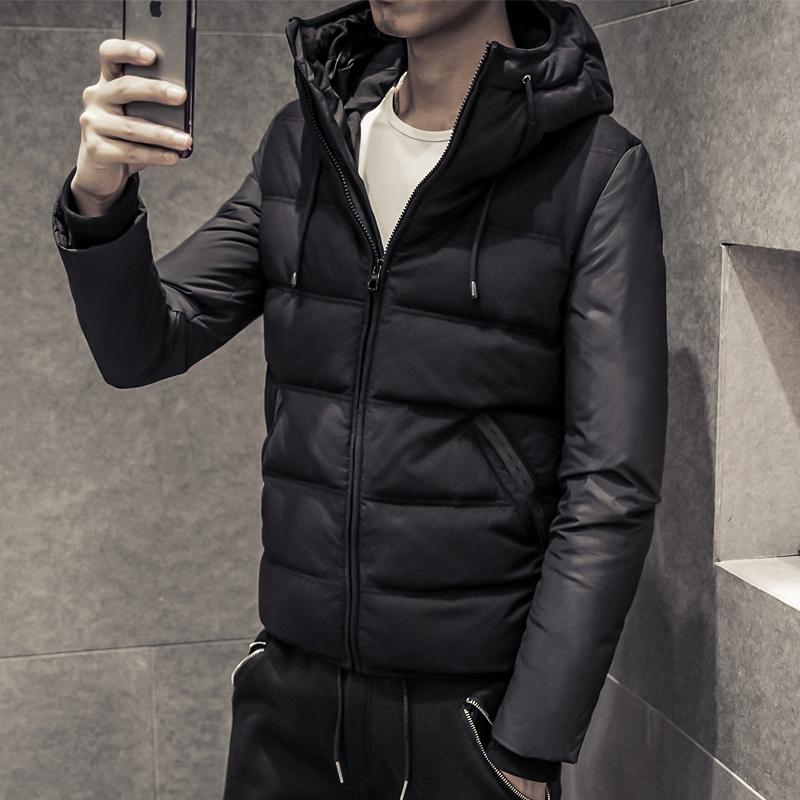 2015新款轻薄羽绒服男士短款韩版修身加厚冬装连帽青年外套男装潮