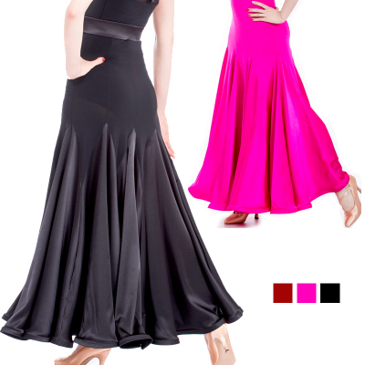 Ballroom Dance Dresses Modern Half-length Skirt Exercise Skirt National Standard Skirt Modern Skirt Sweater Skirt