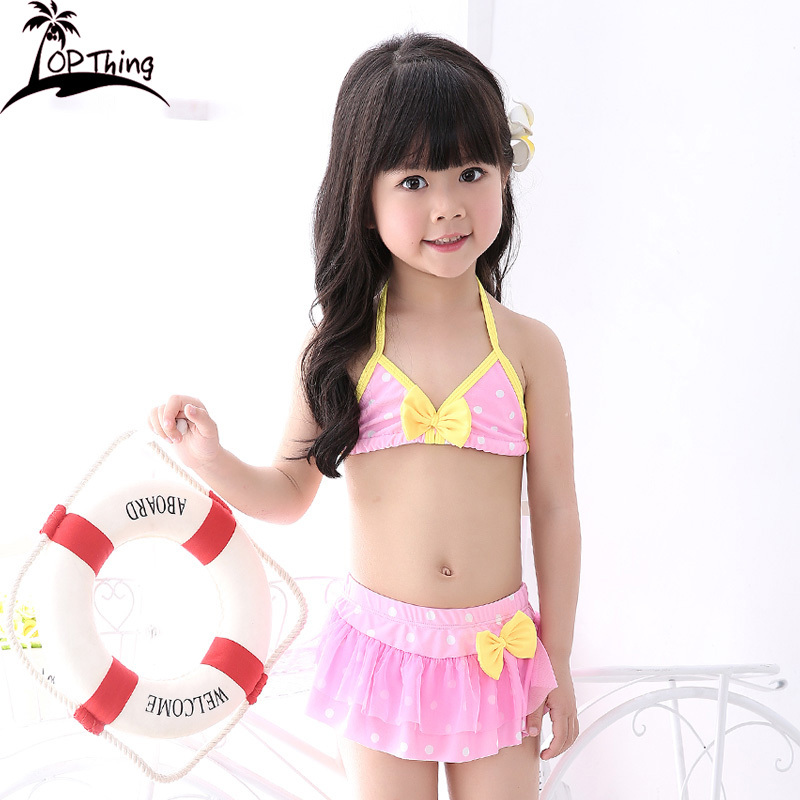 7d126a29e0 TP girls swimsuit toddler Korean cute little girl bikini skirt lace  princess baby swimsuit children